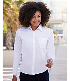 Fruit Of The Loom Ladies' Long Sleeve Poplin Shirt