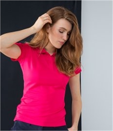 HENBURY LADIES COOLPLUS WICKING POLO SHIRT