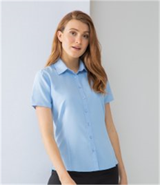 HENBURY LADIES WICKING ANTI-BACTERIAL POLYESTER QUICK DRY SHORT SLEEVE SHIRT