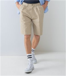 HENBURY TEFLON COATED FLAT FRONTED CHINO SHORTS