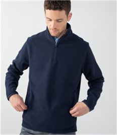 HENBURY MENS 1/4 ZIP MIRCROFLEECE