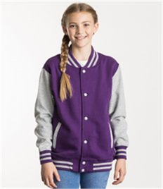 JUST HOODS BY AWDIS KIDS VARSITY JACKET
