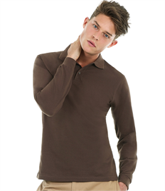 B&C Safran Long-sleeved Polo Shirt