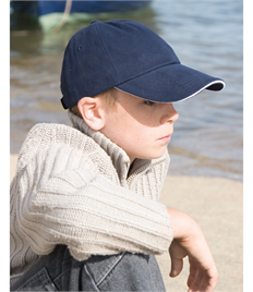 Result Headwear Low Profile Heavy Brushed Cotton Cap with Sandwich Peak