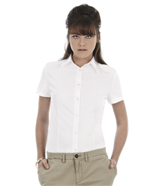 B&C Women's Oxford Short Sleeve Shirt